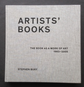 Cover Stephen Bury artists book 2015